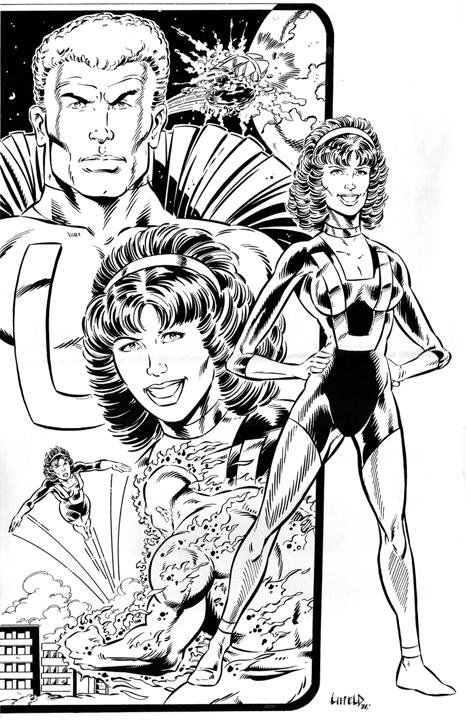 UmanUgirl RobL pinup Youngblood & Rob Liefeld